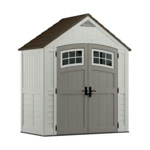 suncast 7ft x 4ft cascade resin storage shed bms7400 storage sheds deck boxes ace hardware