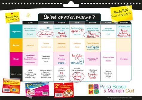 cuisine az menu de la semaine conseil 1 organiser les menus de la semaine ou les