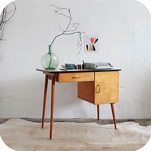 Bureau Enfant Vintage : d227 mobilier vintage bureau enfant b atelier du petit parc ~ Teatrodelosmanantiales.com Idées de Décoration