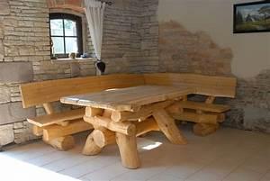 rustikale gartenmobel holz massiv sitzgruppe tisch With französischer balkon mit garten holzplatten