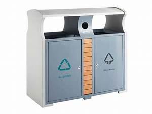 Poubelle Tri Selectif 2 Bacs : poubelle en acier tri s lectif 2 bacs et compartiment ~ Dailycaller-alerts.com Idées de Décoration