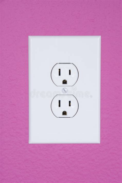 design house extension free standard 110 volt power outlet stock image image 3968581