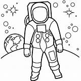 Astronaut Coloring Moon Pages Walking Drawing Surface Colouring Simple Astronauts Cliparts Clipart Line Printable Flag Space Soil Put American Clip sketch template