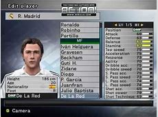 Plantilla Real Madrid 20042005 Winning Eleven YouTube