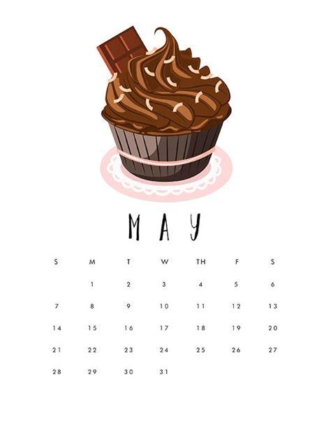 printable  cupcake calendar calendar wallpaper