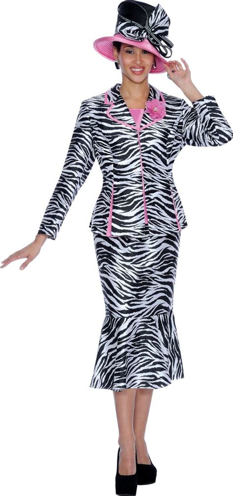 gmi  womens zebra print church suit french novelty