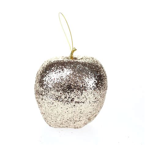 glitter apple ornaments