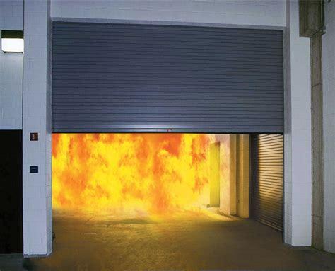 automatic garage door and fireplace proof door