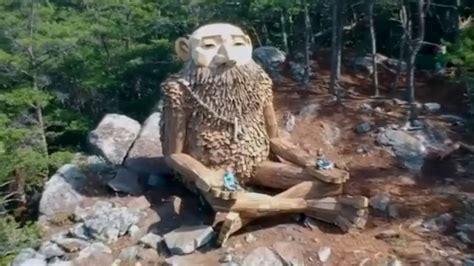 giant troll sculpture hidden   smoky