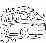 Caravan Coloring Compact Van Pages Camping Coloriage Enfant Coloringcrew Colorear Campingcar Vanlife sketch template