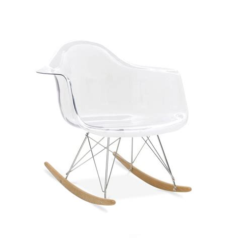 iconic designs flair chaise 224 bascule rar rocking chair cr 233 ation de 1948 transparent iconic