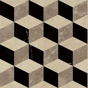 Japan 3D square diamond marble cube tile for bathroom ...