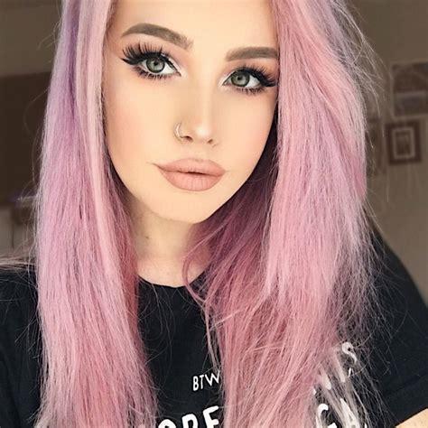 Pastel Pink Hair Color In 2020 Pastel Pink Hair Hair