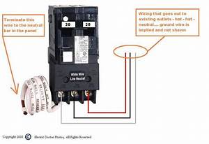 I Am Wiring A Square D 50 Amp Gfci Breaker For A Hot Tub  The Bottom Of The Breaker Has Three