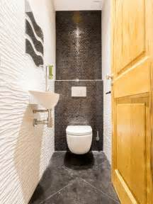 Idee Carrelage Wc by Photos Et Id 233 Es D 233 Co De Wc Et Toilettes Avec Un Carrelage Gris
