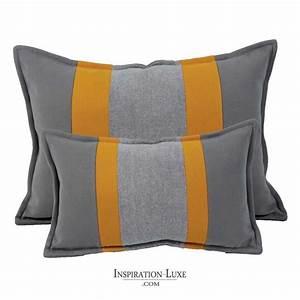 Coussin Gris Et Jaune : coussin rectangulaire de luxe jaune et gris 2 tailles au ~ Dailycaller-alerts.com Idées de Décoration
