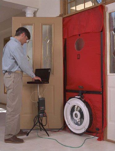 blower door test hers inspections and title 24 compliance green