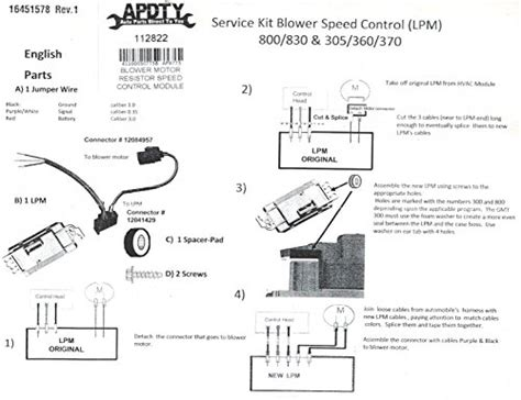 apdty 112822 blower motor resistor speed upgrade