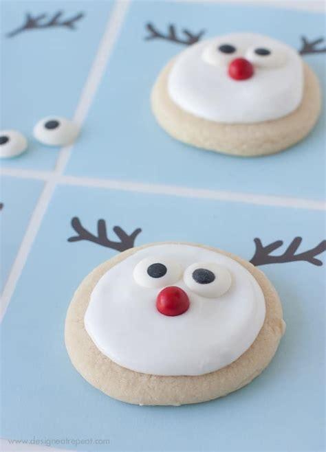 decorated reindeer cookies   printable