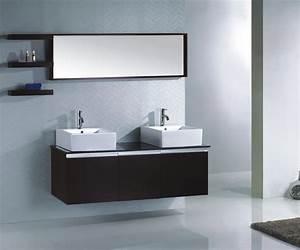 Meuble Double Vasque Design : ensemble complet meuble salle de bain weng double vasque ~ Mglfilm.com Idées de Décoration