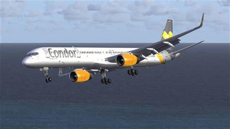 Fsx B757-300 Condor Qw Landing Madeira