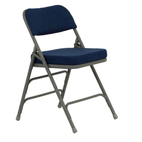 hercules folding chairs manufacturer hercules 2 1 2 padded metal folding chairs navy sam s club
