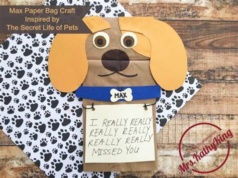 Max Paper Bag Craft Inspired By The Secret Life Of Pets
