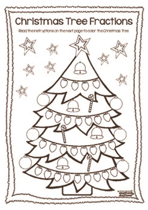 free christmas glyphs for fourth grade tree fractions freebie by walker tpt