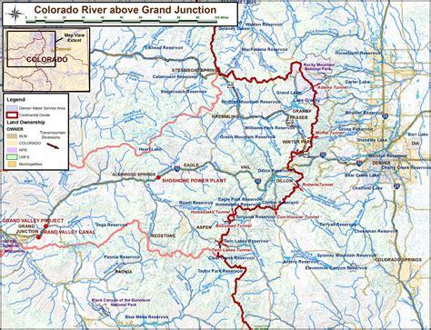 maps colorado river basin watersheds transmountain