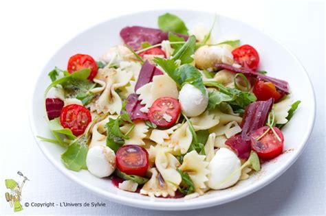 recette salade de pates mozzarella salade de p 226 tes magret fum 233 mozzarella l univers de sylvie l univers de sylvie