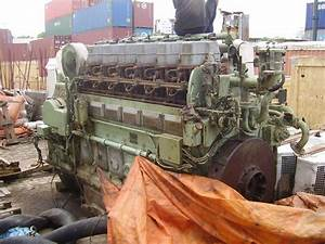 1987 Man Marine Diesel Engine 1100 Hp Mod 6l23  30kvo For