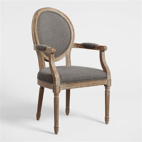 Stay updated about high back upholstered dining chairs. Charcoal Linen Paige Round Back Dining Armchair   World ...
