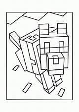 Coloring Minecraft Printable Popular sketch template