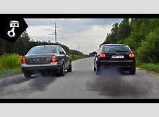 VW Passat B55 19TDI vs Audi A3 8P1 20TDI Drag; zhmuraTV