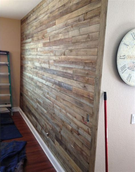 pallet wall diy diy pallet wall project things for the home pinterest