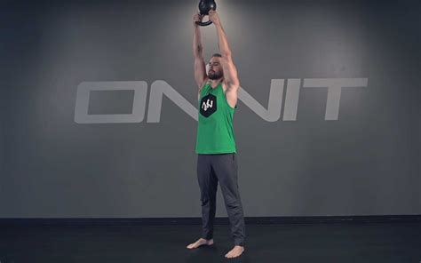 overhead kettlebell press hand exercise academy