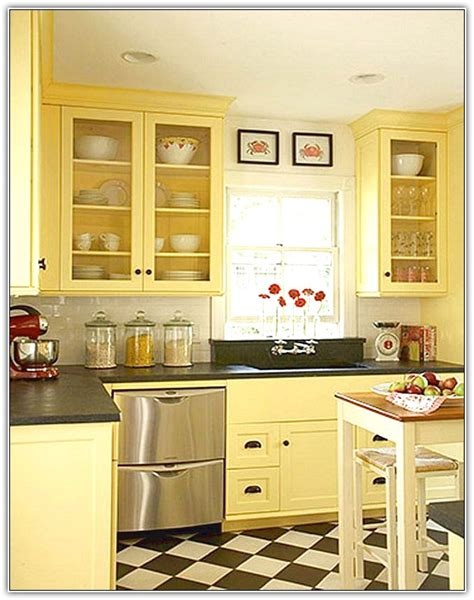kitchen with an island design yellow kitchen cabinets kitchen cabinets colourful