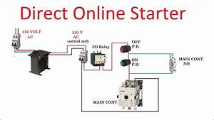 Direct Online Starter  Dol Starter Connection In Hindi