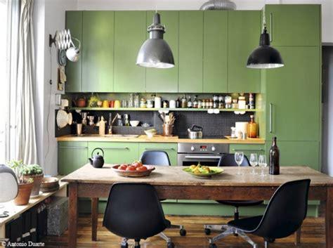 idee deco cuisine vintage deco cuisine peinture verte