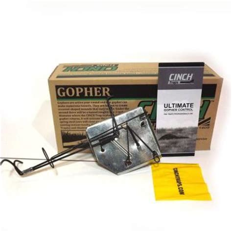 cinch mole traps cinch traps 3 1 2 in large gopher trap lg 03 the home depot 2206