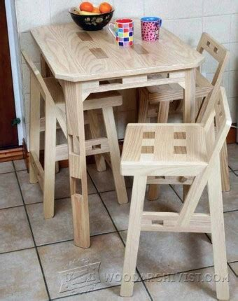 pine dining chair plans woodarchivist
