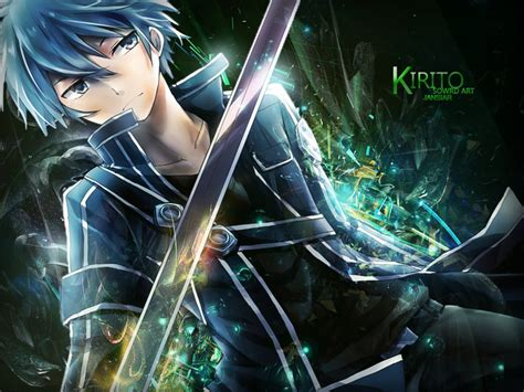 3d Anime Wallpaper - kiriro sword by janisar22 free desktop wallpaper