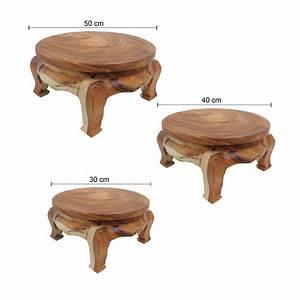 Beistelltisch Holz Massiv : opiumtisch tisch beistelltisch massiv holz couchtisch rund natur thailand ebay ~ Indierocktalk.com Haus und Dekorationen