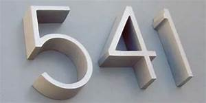 architectural address numbers letters house numbers With neutra letters
