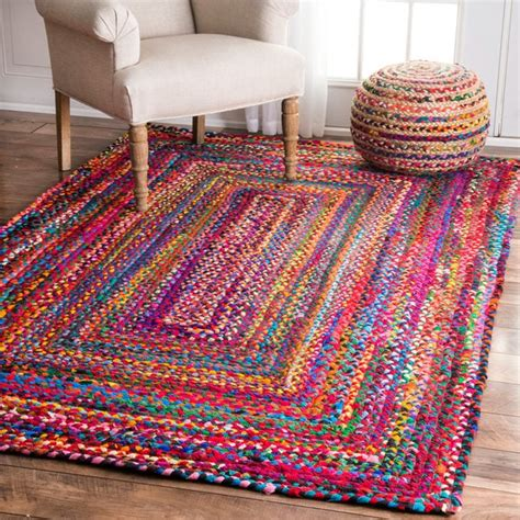 moroccan area rugs sale nuloom casual handmade braided cotton multi rug 5 39 x 8