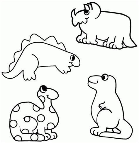 dinosaur coloring pages  toddlers coloring home