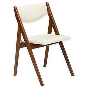 buy a frame wood folding chair in fruitwood set of 2