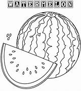 Watermelon Coloring Pages Fruit Sheets Drawing Print Colorings Fresh Coloringpagesfortoddlers Fruits Summer Printable Food Colored Seeds Cute Getdrawings sketch template