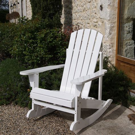adirondack rocker in white by plant theatre