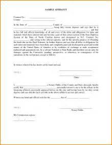 Sample Affidavit Form Template